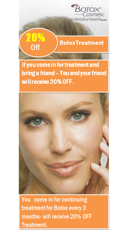 20% Off Botox Treatment Banner